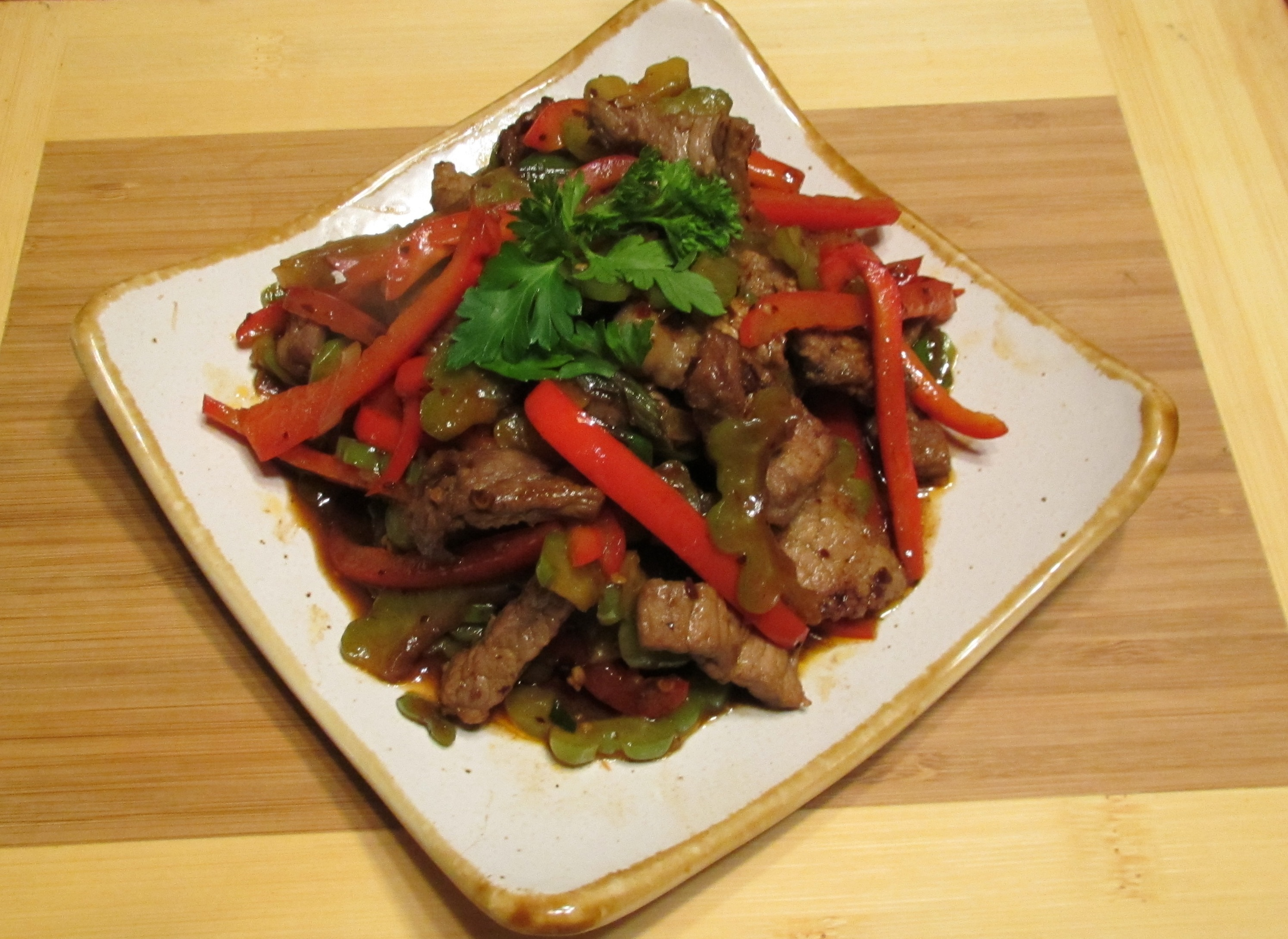 Bitter Melon and Beef in Chili Black-Bean sauce Sybaritica