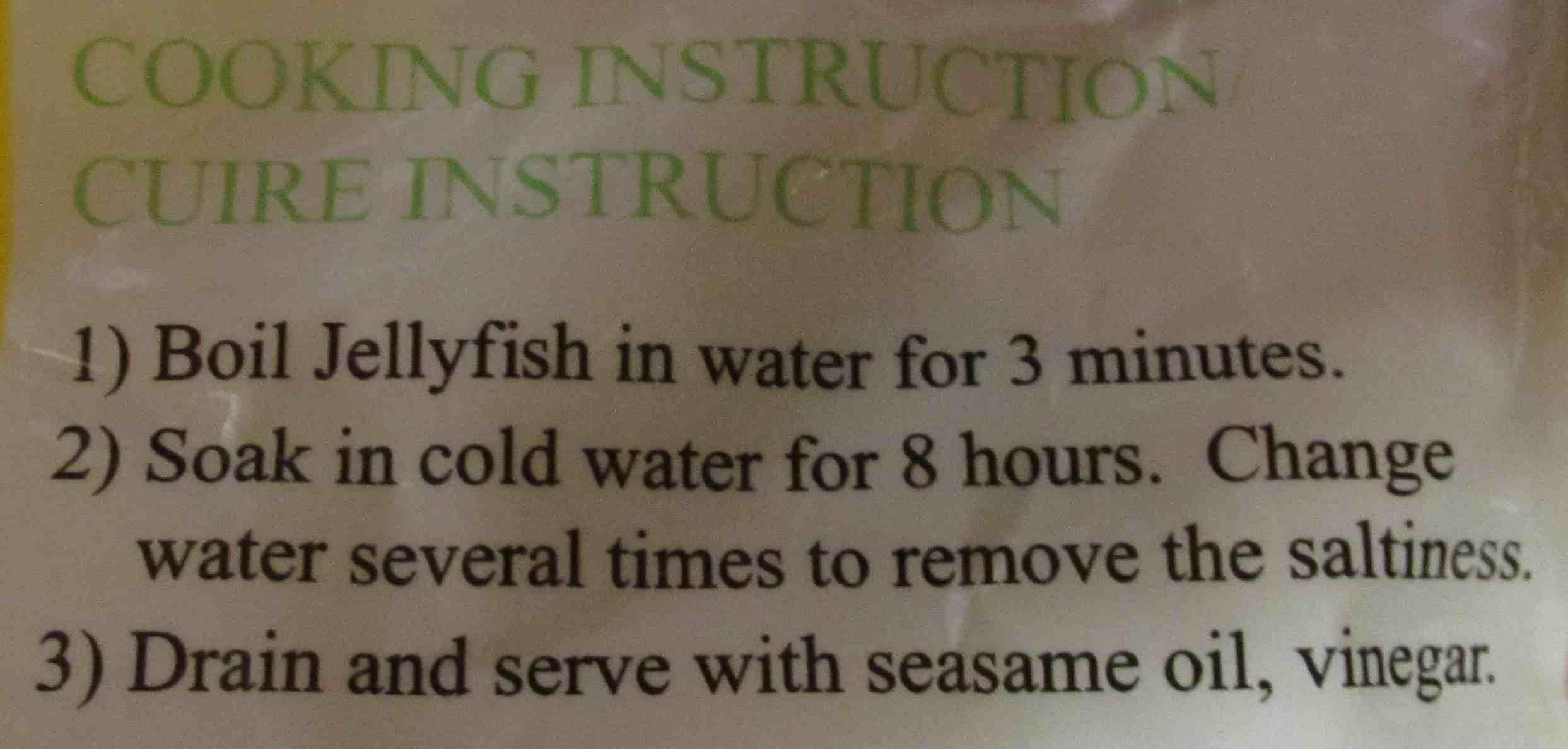 نتيجة بحث الصور عن jellyfish recipe