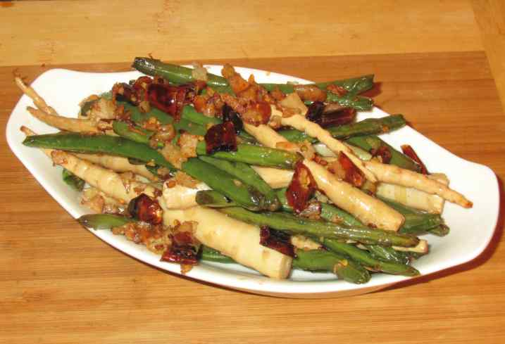 Dry-fried Beans and Bamboo 1