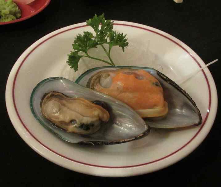 Mussel Sashimi