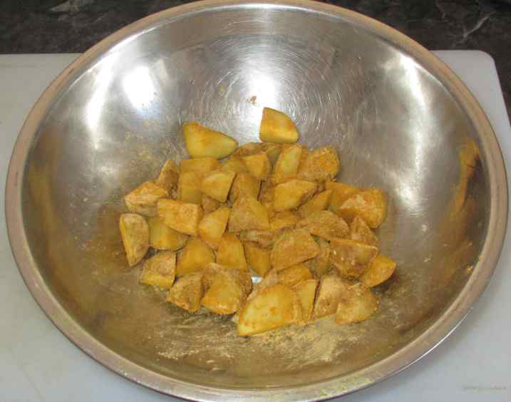 Bengali Potato and Greens 2