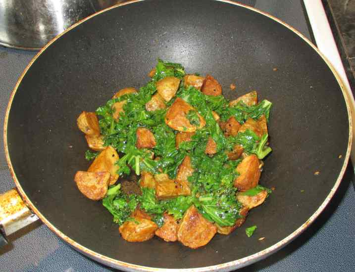 Bengali Potato and Greens 5