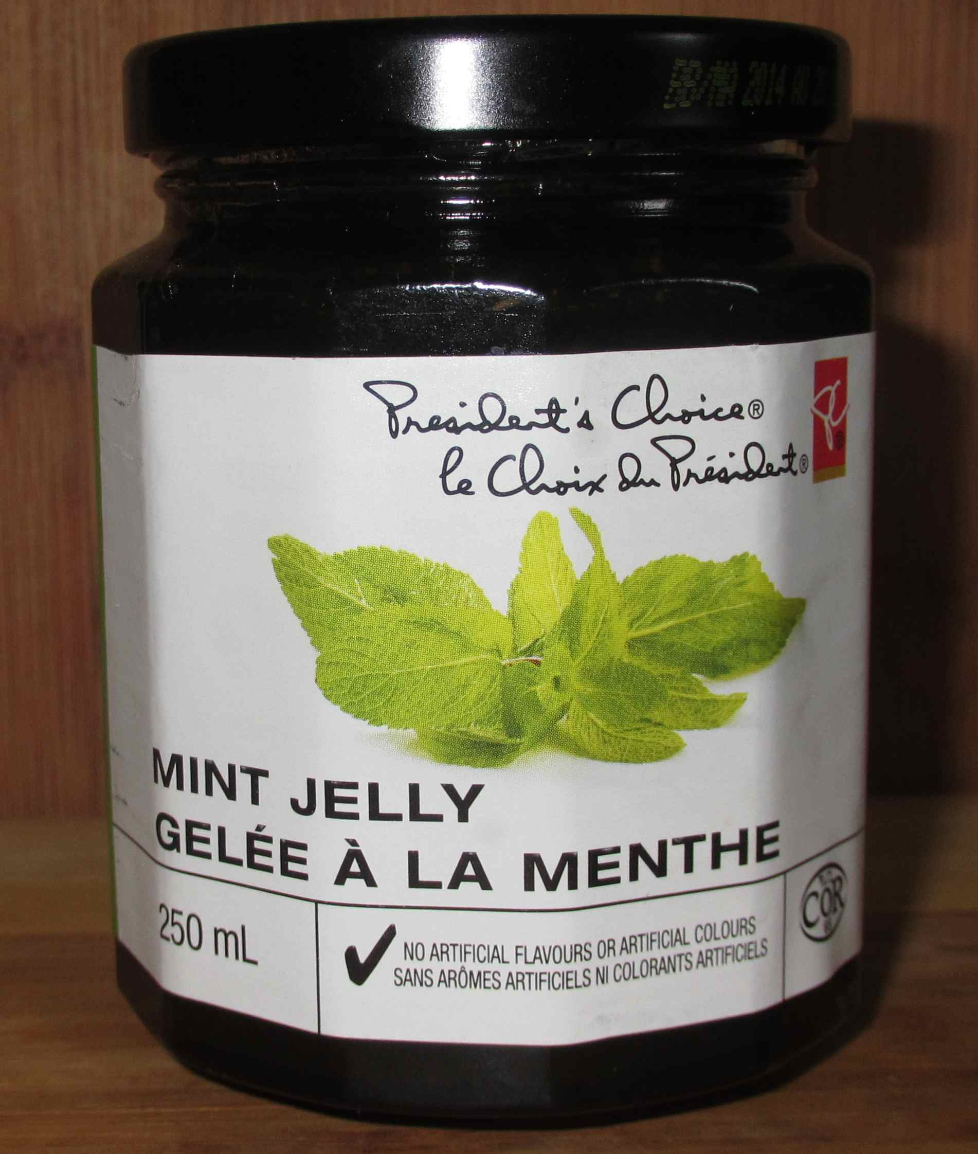 Foodstuff: Mint Jelly – President's Choice Brand – Sybaritica