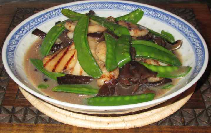 Scallops with Snow Peas 1
