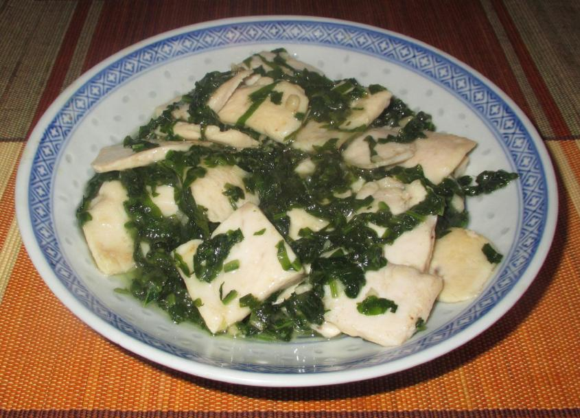 Chicken with Radish Greens 01