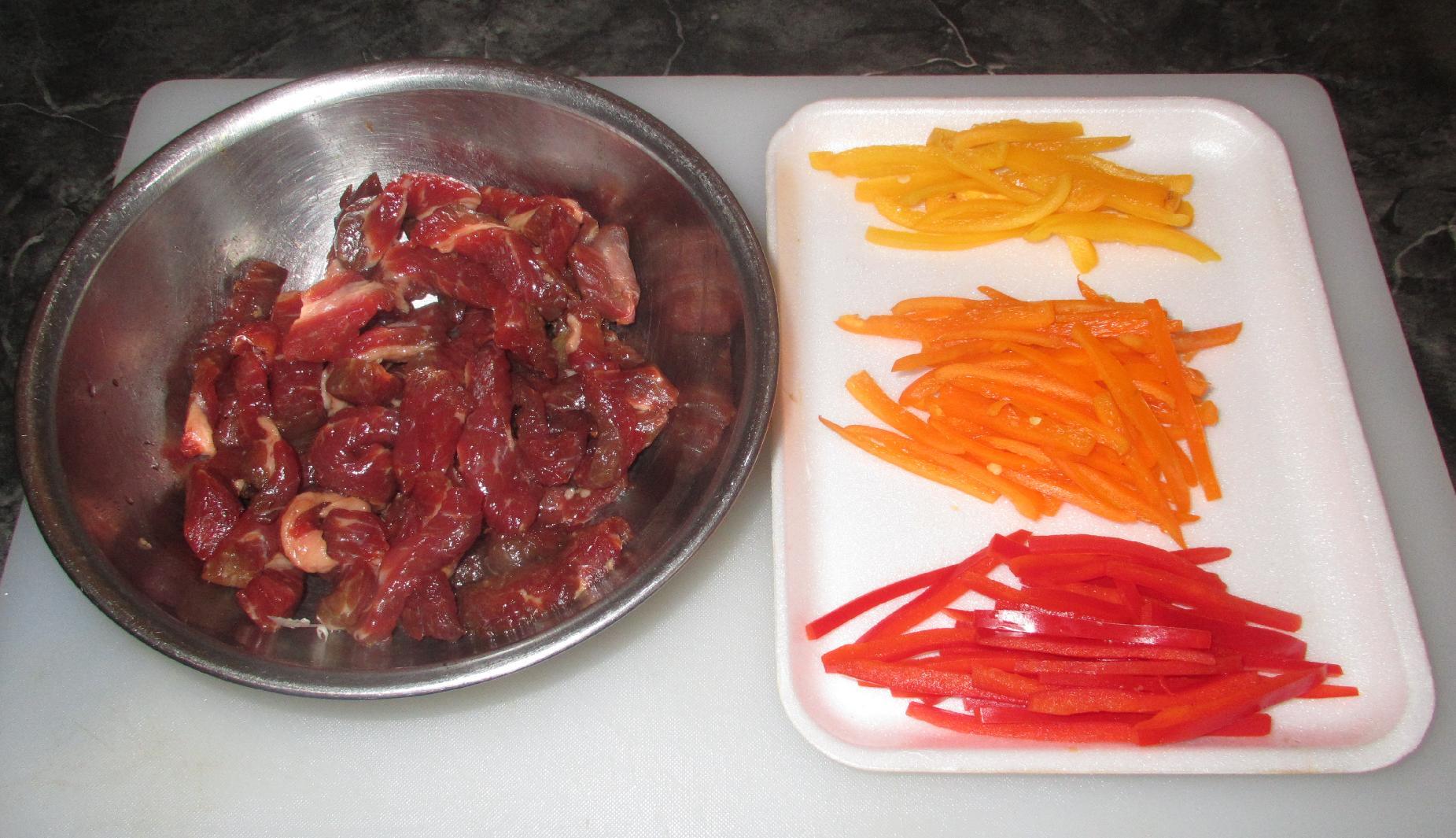 how to cut a bell pepper julienne