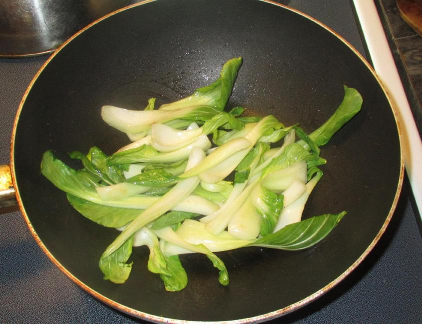 Bok Choy with Pork and  Mushroom 3