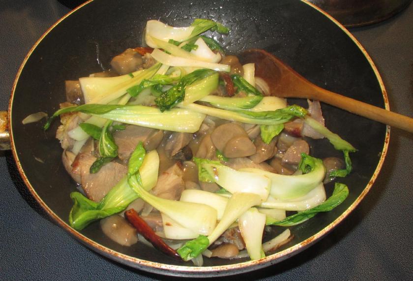 Bok Choy with Pork and  Mushroom 6