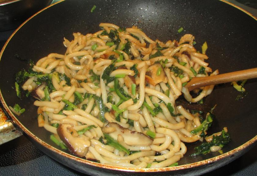 Fried Udon with Greens 6