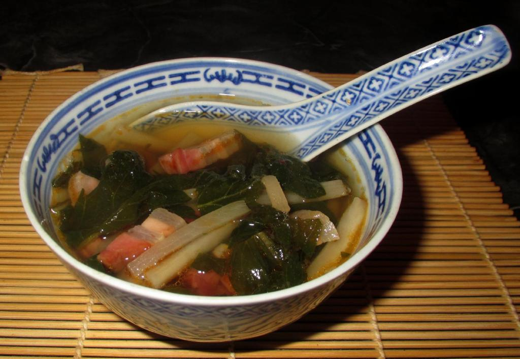 Preserved Pork and Daikon Soup 1
