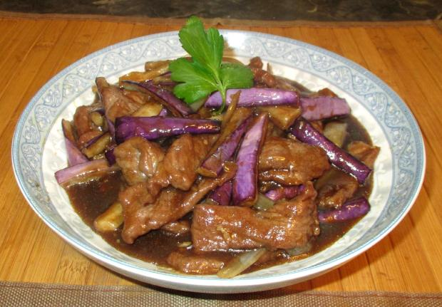 Beef with Eggplant and Onion 1