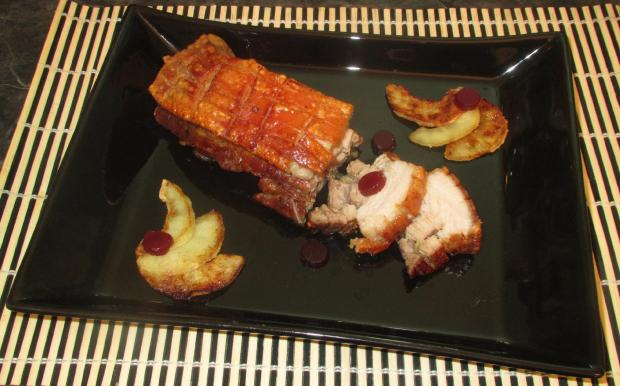 Roast Pork Belly with Apple 1