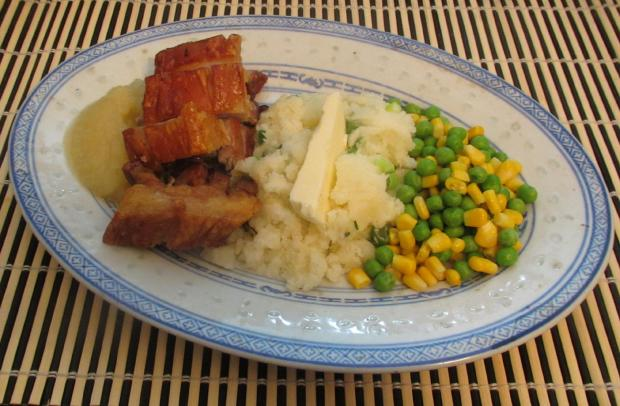 Roast Pork Belly with Apple 6