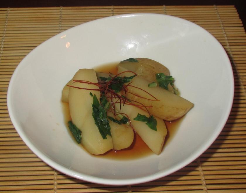 Mizuna Potato Nimono 01