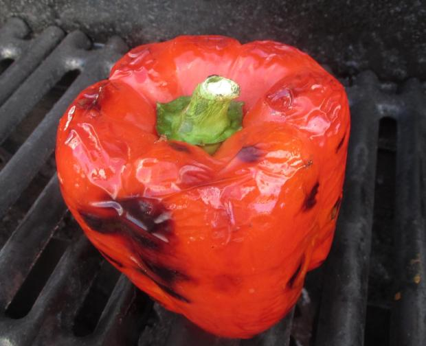 Roasting Red Peppers 03