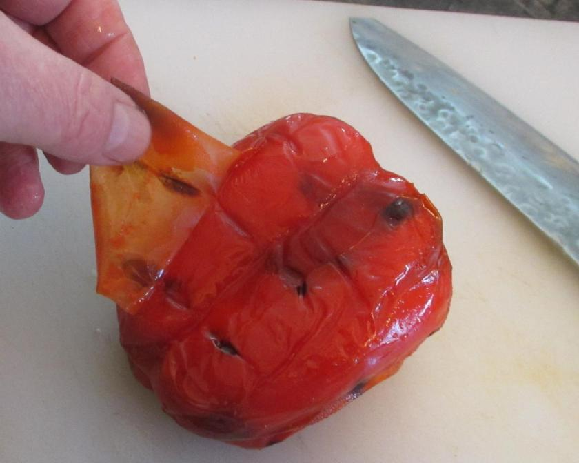 Roasting Red Peppers 05