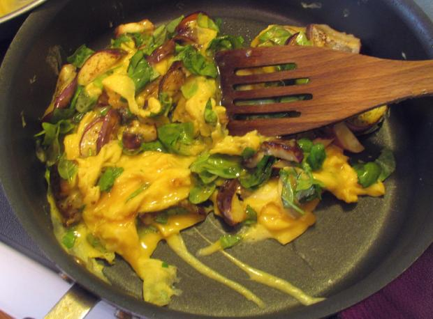 Eggs with Eggplant and Basil 05
