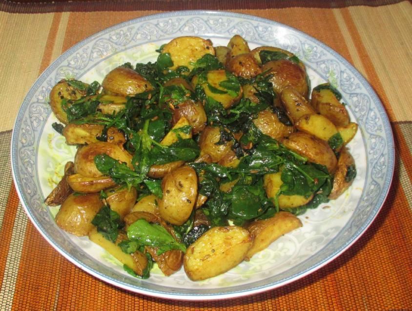 Potatoes with Fenugreek 01