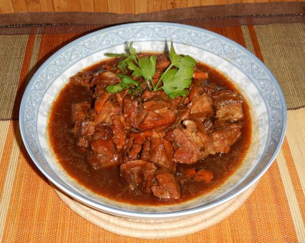 Red Cooked Pork and Octopus 1