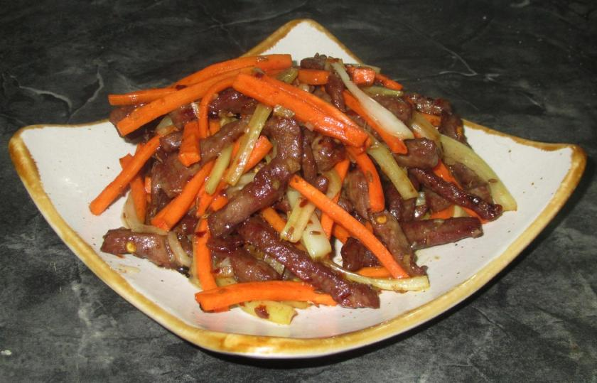 Dry-fried Sour and Spicy Beef 1