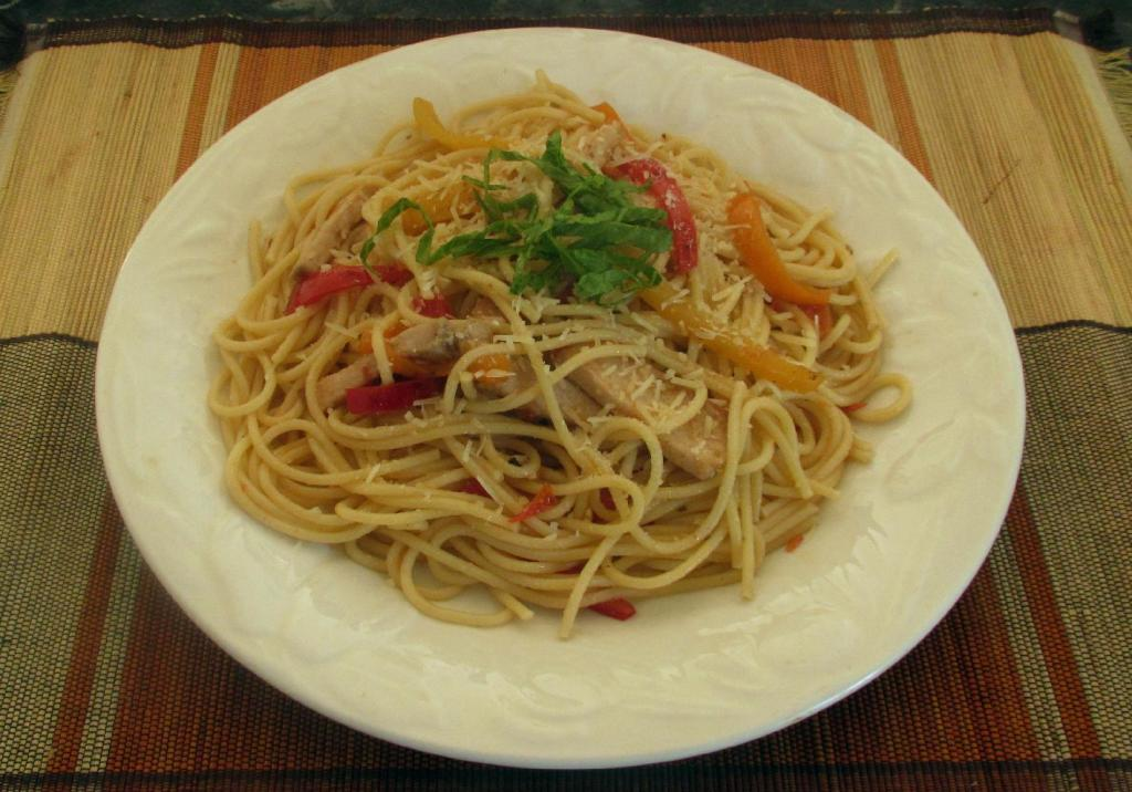 Pasta with Pork and Peppers 1