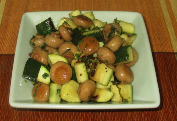 Minted Zucchini and Mushrooms 1