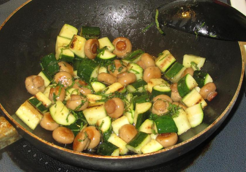 Minted Zucchini and Mushrooms 6