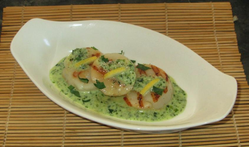 Scallion Pesto Scallops 1