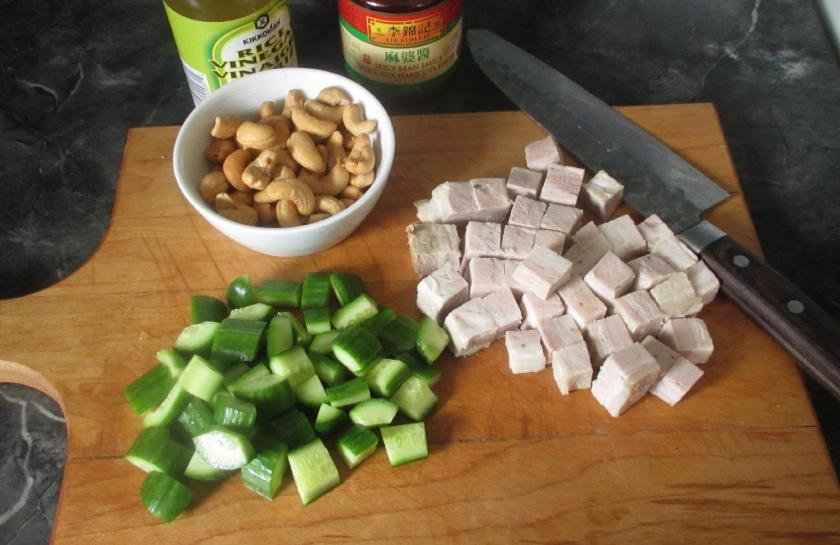 Spicy Pork with Cashew and Cucumber 2