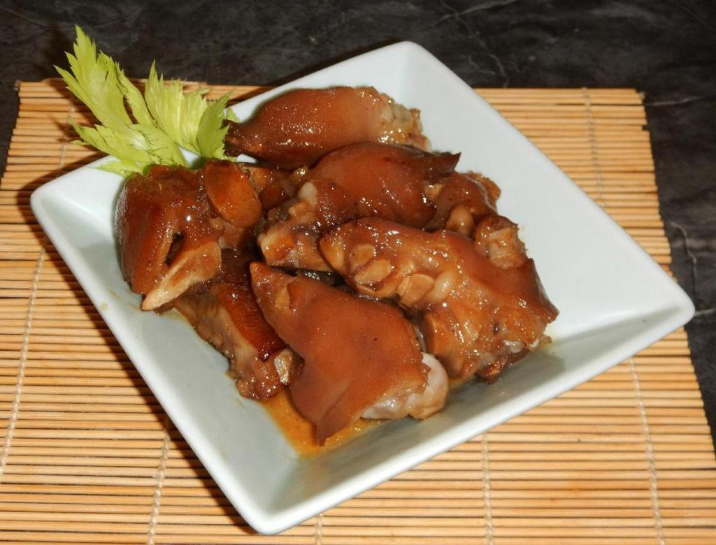 Red Cooked Pig Trotters 1