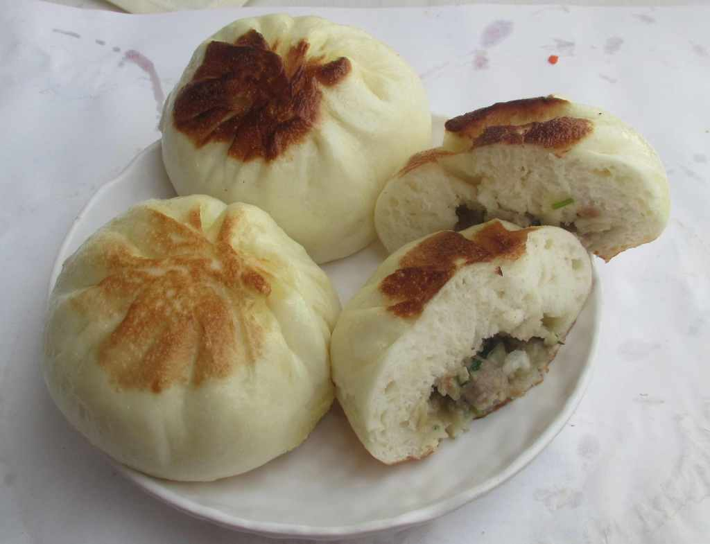 Grilled Abalone and Meat Bun