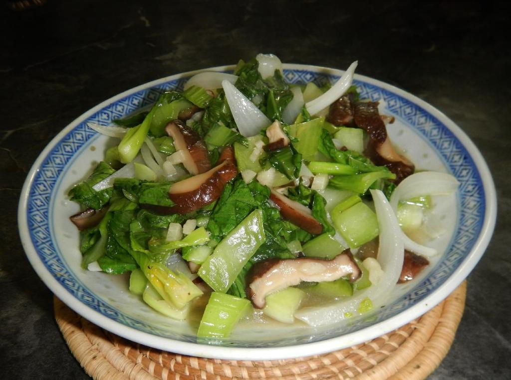 Bok Choy and Mushrooms 1