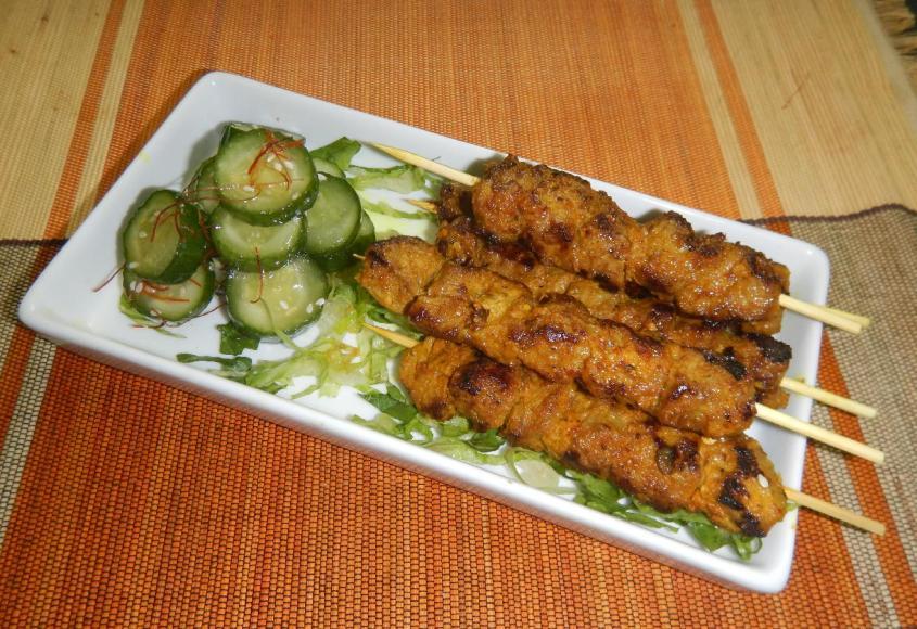 Pan-fried Beef Satay 1