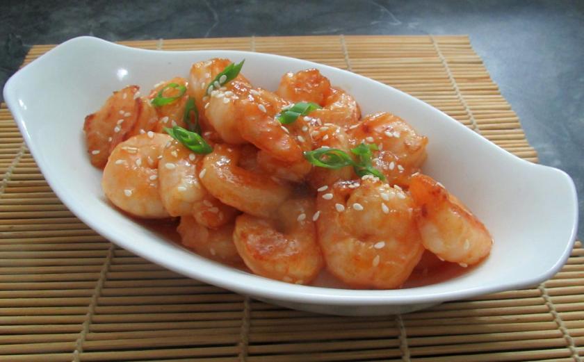 Sweet Sesame Shrimp 1