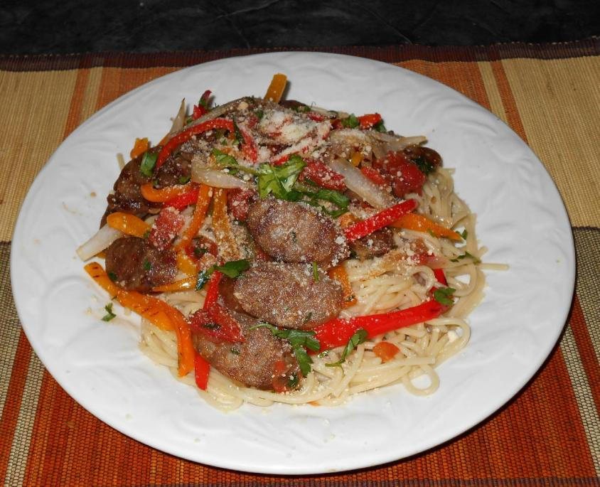 Sausages and Peppers 1