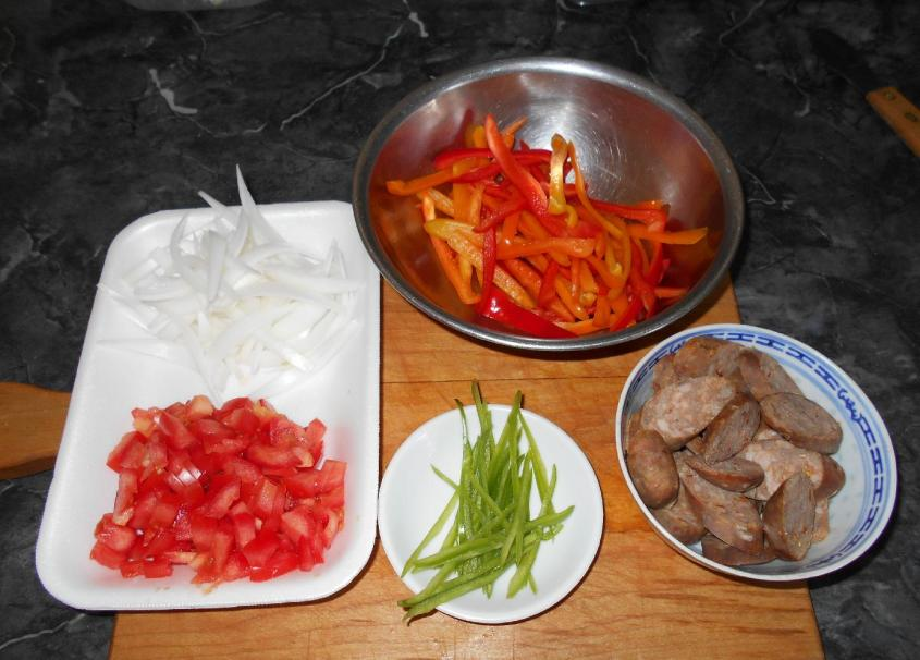 Sausages and Peppers 2