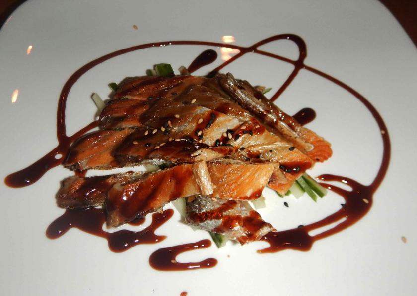 Grilled Salmon Skin