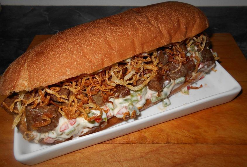 Onion Steak Sandwich 1