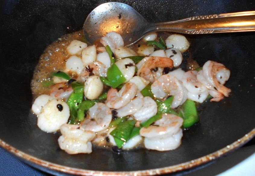 Black Bean Shrimp and Scallop 4