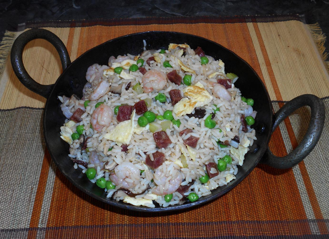 Shrimp and Sausage Fried Rice 1