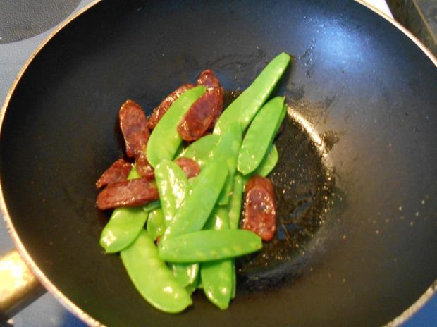 Snowpea and Sausage 6