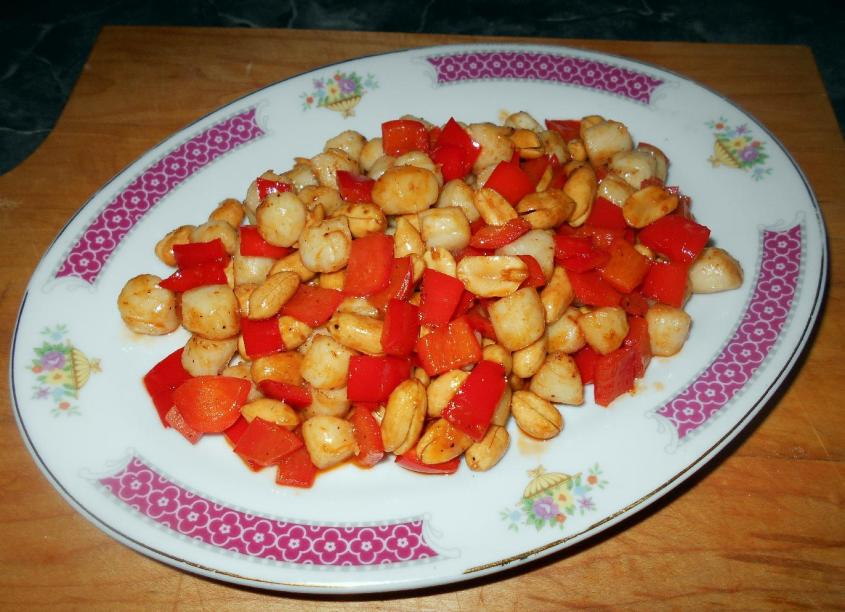 Scallops with Peanuts 1