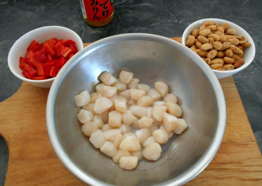 Scallops with Peanuts 2