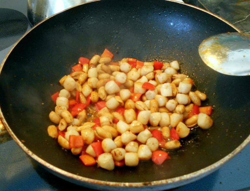 Scallops with Peanuts 5