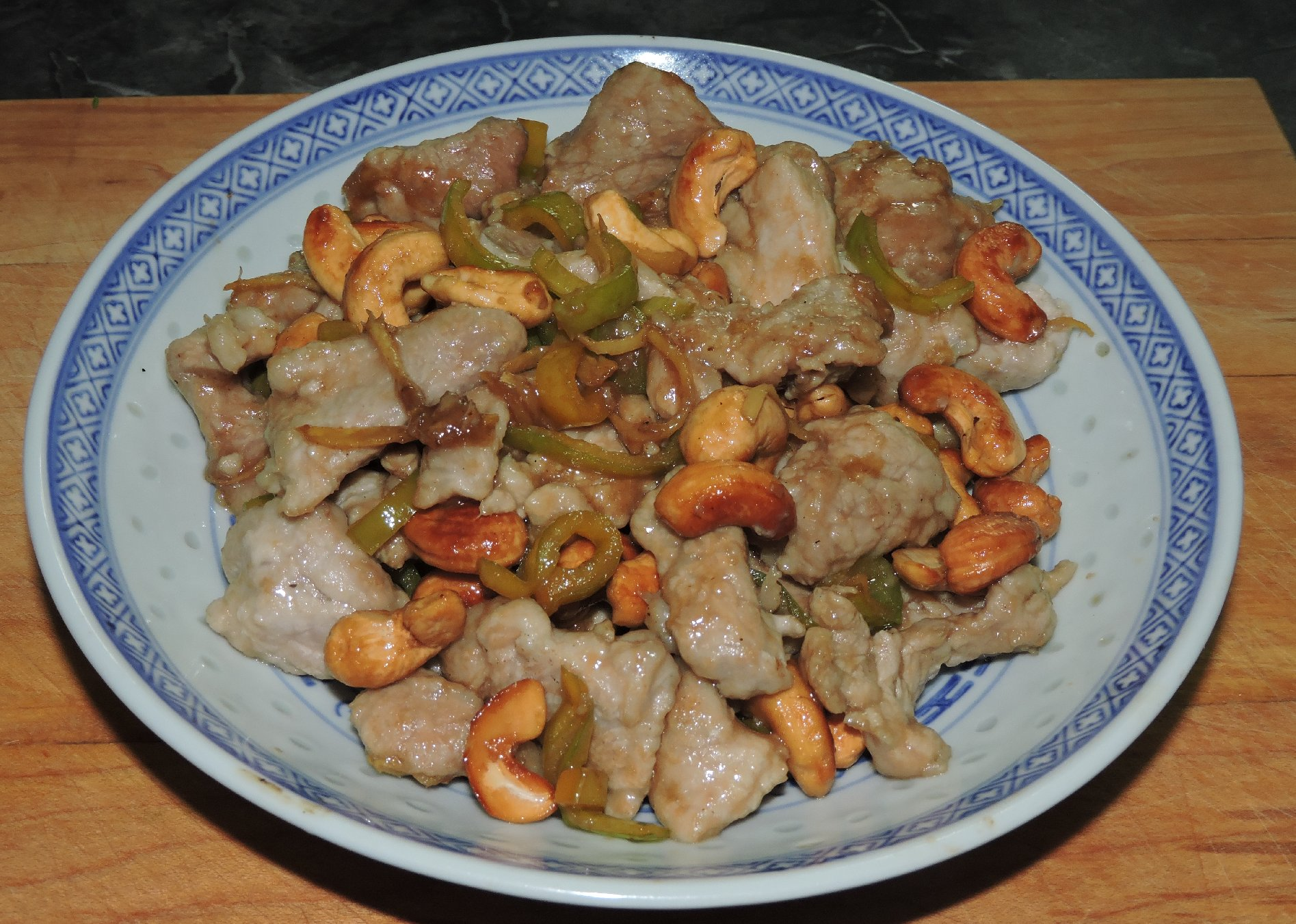 Pork with Green Chilli and Cashews 1