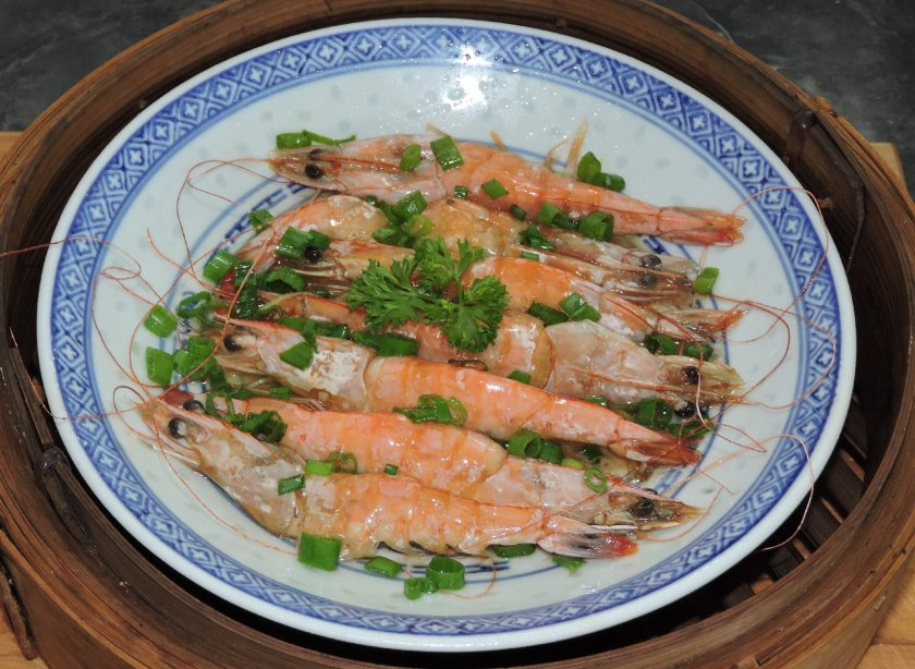 Oil Sizzled Shrimp 1