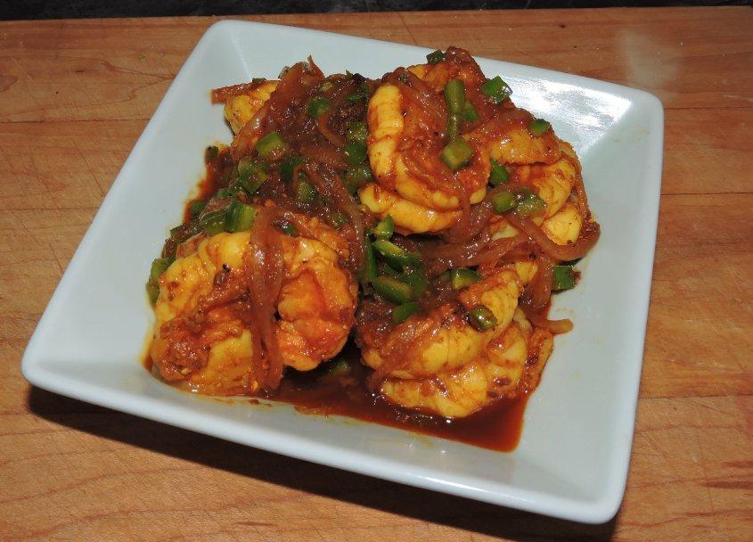 Spicy Bagoon Prawns 1