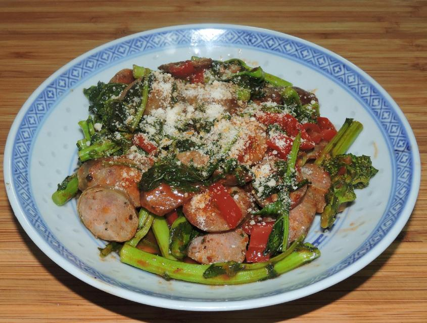 Broccoli Rabe with Sausage and Peppers 1