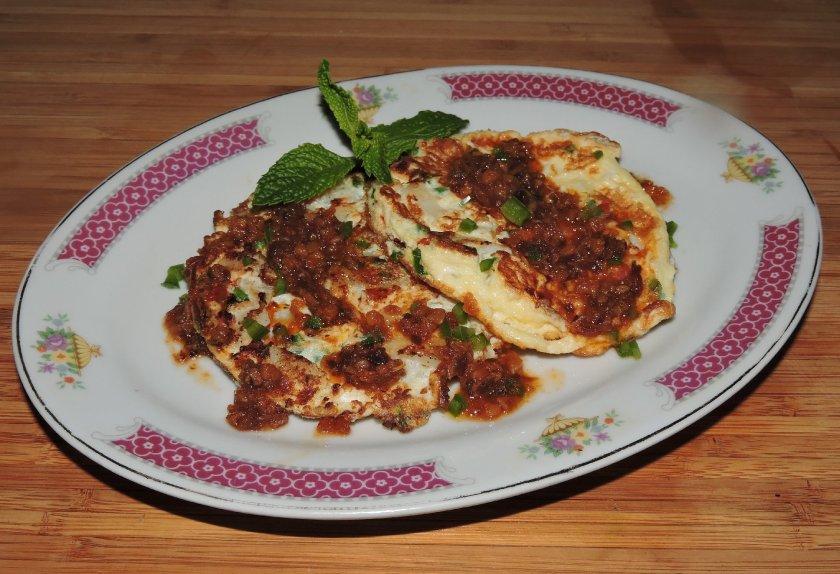 Scalloped XO Omelet 1