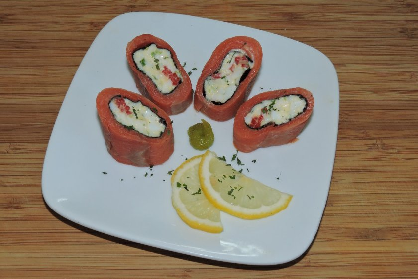Smoked Salmon Roll 1